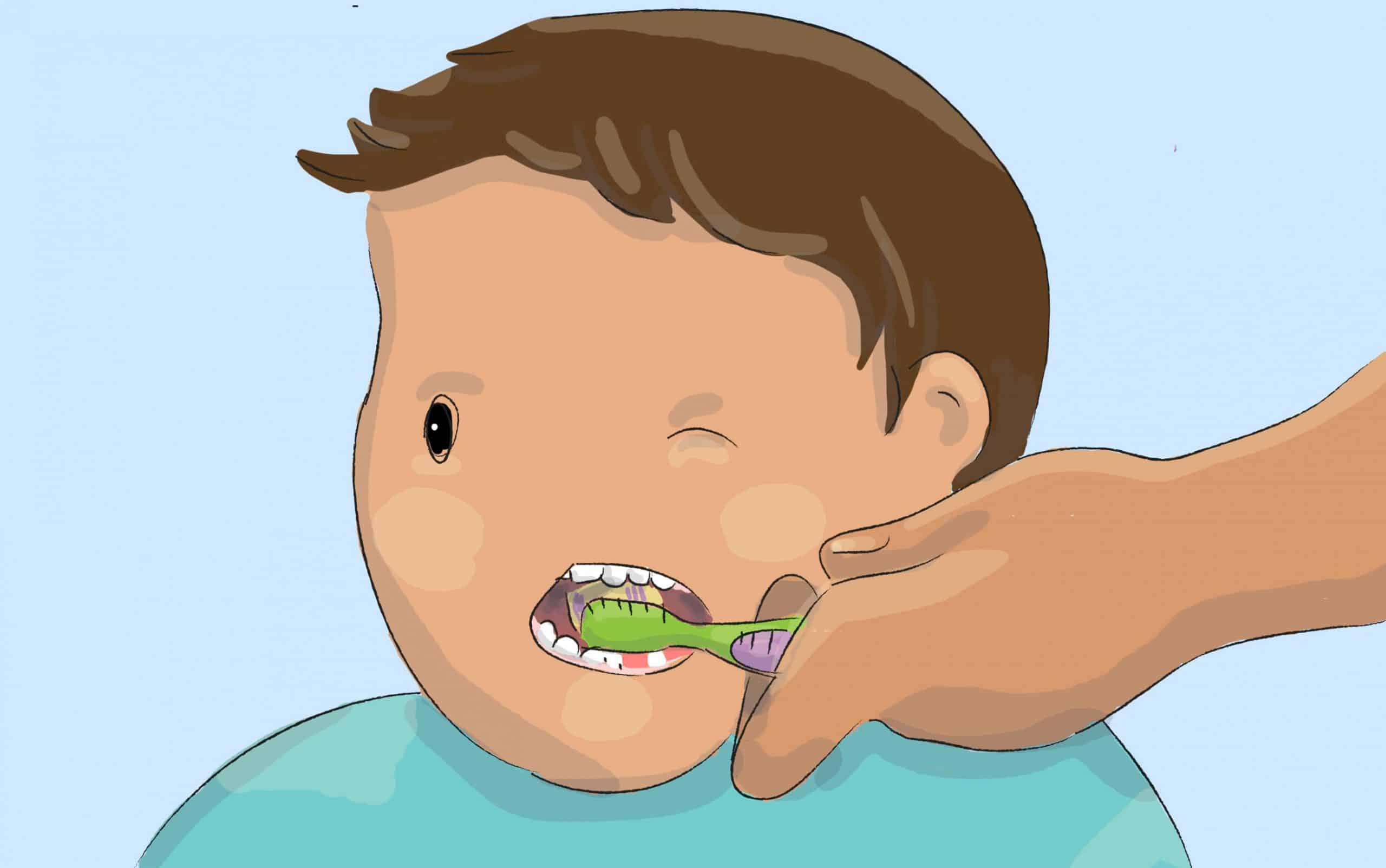 שימוש במברשת שיניים החל מגיל שנה