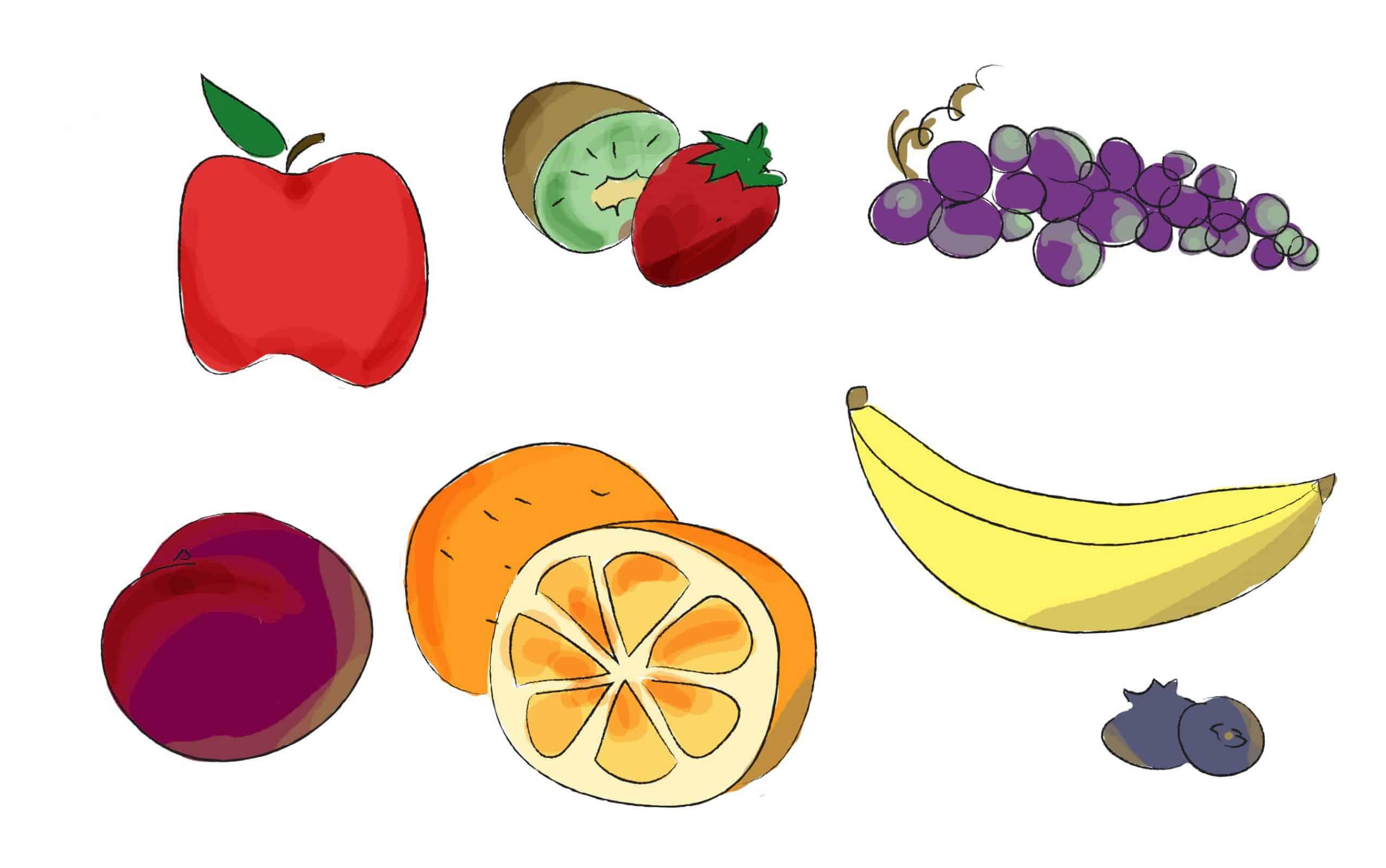 שימוש בפירות בתפריט יומי בריא ומאוזן
