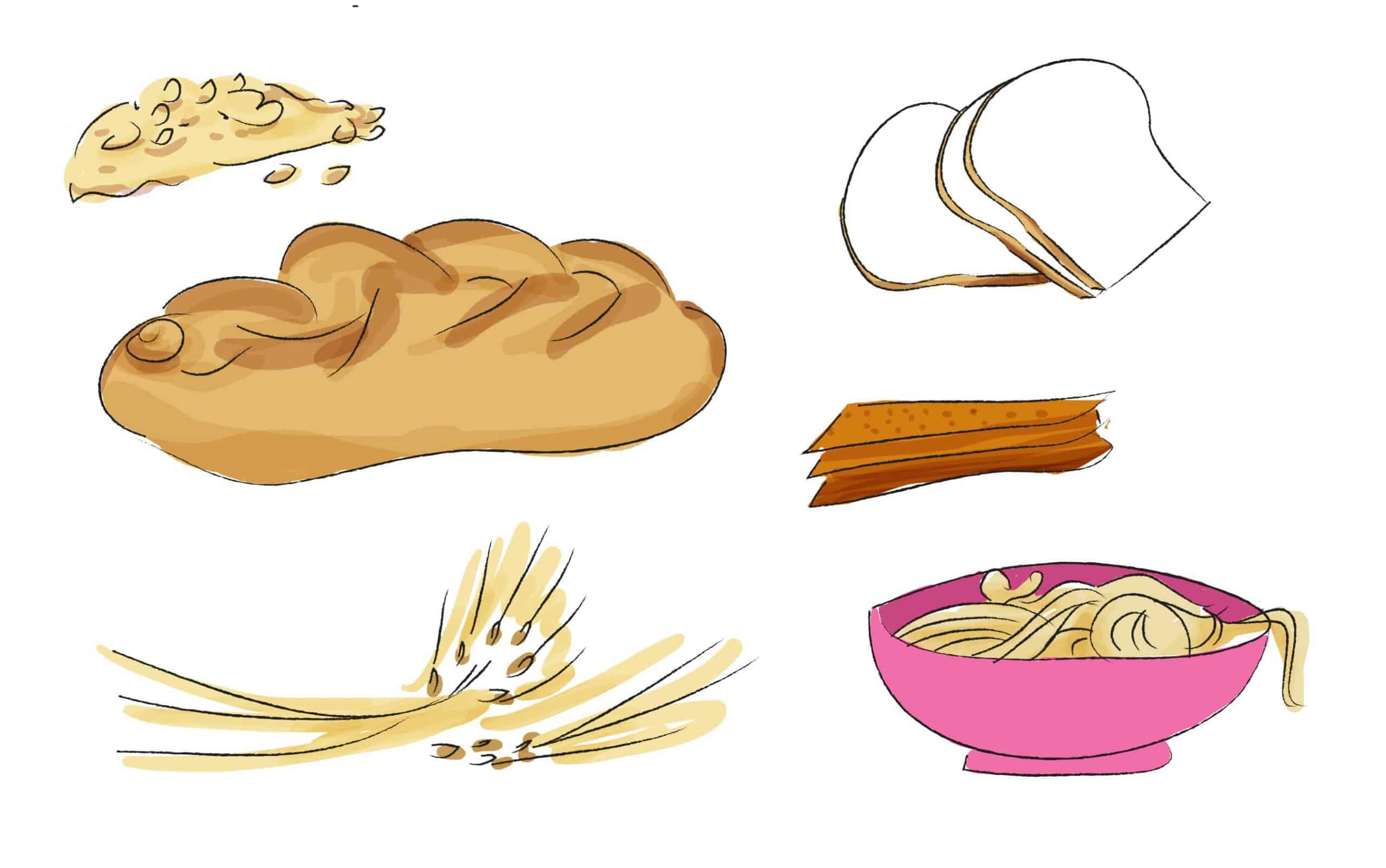 שימוש בלחם ודגנים בתפריט יומי מאוזן