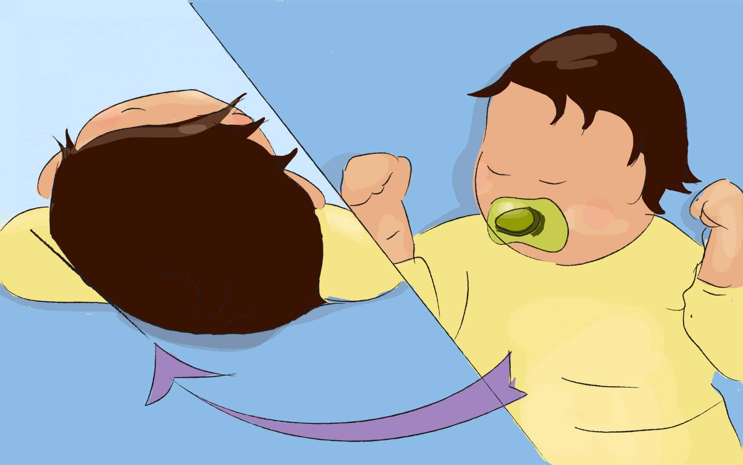 שכיבה ממושכת על הגב עשויה לגרום לאיזור שטוח באחורי הגולגולת
